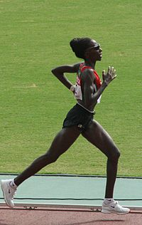 Ndereba at the 2007 World Championships in Athletics.