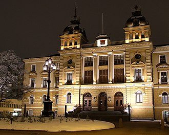 Oulu City Hall - Oulu City Hall by night
