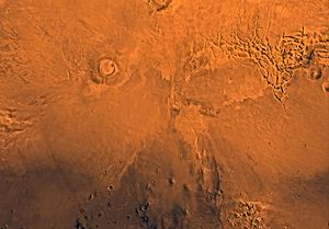 Phoenicis Lacus quadrangle - Image of the Phoenicis Lacus Quadrangle (MC-17). Most of the region includes the Tharsis plateau. The northwest contains Pavonis Mons and Arsia Mons, the east contains Syria Planum, the northeast includes Noctis Labyrinthus and the south-central part includes Claritas Fossae.