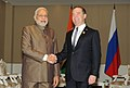 PM Narendra Modi and Russian PM Dmitry Medvedev at Nay Pyi Taw, Myanmar.jpg