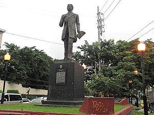 Pablo Ocampo Street - Pablo Ocampo monument beside Century Park Hotel
