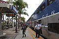 Pacific Surfliner at Encinitas station, July 27, 2014.jpg