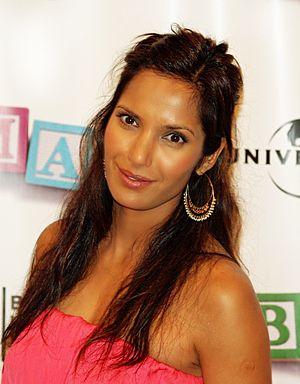 Padma Lakshmi at the premiere of Baby Mama in ...