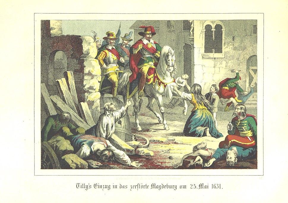 Page245 Tillys Einzug in das zerstörte Magdeburg am 25. Mai 1631