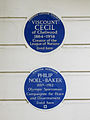 Pair of blue plaques - 16 South Eaton Place Belgravia SW1W 9JA.JPG