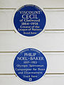 Pair of plaques at 16 South Eaton Place Belgravia SW1W 9JA.JPG