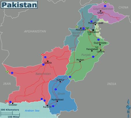 巴基斯坦地图