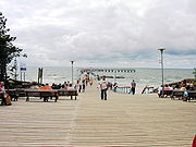 Bridge into the sea in Palanga, the most popular sea resort in Lithuania