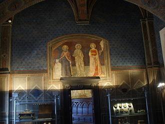 Palazzo Pubblico - Fresco in the palace.