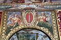 Palazzo colonna, appartamento della principessa isabelle, sala dell'alcova, affreschi di cristoforo pomarancio e scuola, stemma colonna 01.JPG