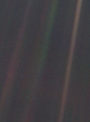 Photo of earth taken from voyager