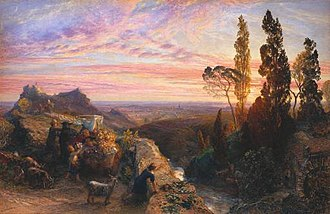 Samuel Palmer - A Dream in the Apennine (c.1864).