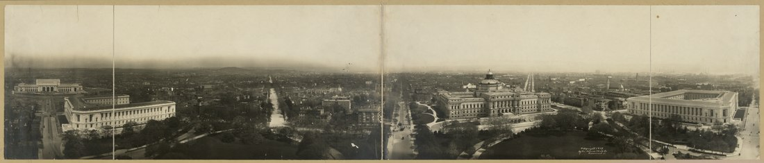 Panorama of Capitol Hill taken from the Capitol Building looking east - 1906