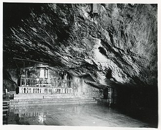 Sanctuary of Monte Sant'Angelo - The Saint Michael Archangel grotto in 1965. Photo Paolo Monti