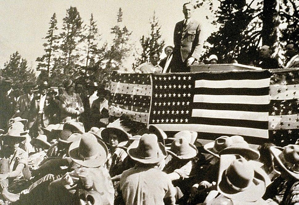 Park Dedication in 1929 in Grand Teton NP-NPS