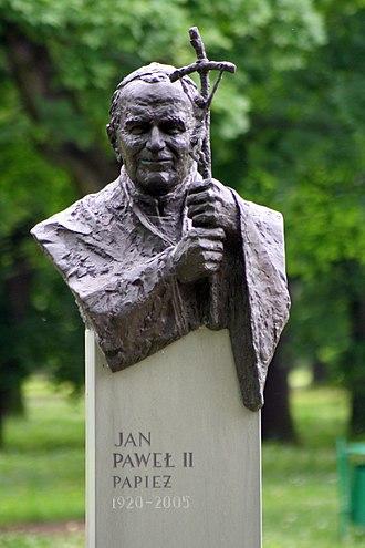 Pope John Paul II bibliography - Image: Park Jordana w Krakowie JPII