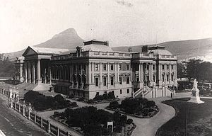 Houses of Parliament, Cape Town - The final Parliament building as constructed (without statues, dome or fountains)