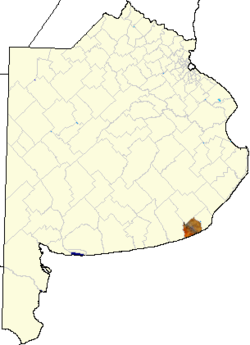 location of General Alvarado Partido in Buenos Aires Province
