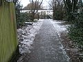 Path from Sandringham Road to Highfield Road approaching the railway line - geograph.org.uk - 1630949.jpg