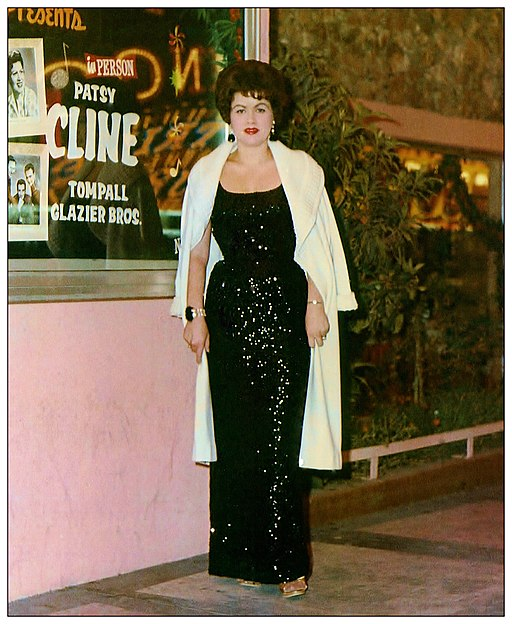 Patsy Cline at the Mint Casino in Las Vegas, Nevada. Circa 1962