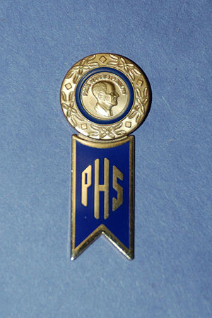 Paul P. Harris - Paul Harris Fellow Pin and Paul Harris Society Hanger