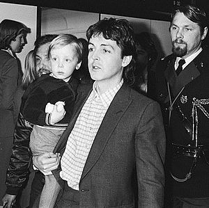 James McCartney - Two-year-old James in 1980, carried by his father Paul McCartney