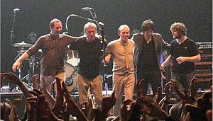 Paul Weller - Weller and band line-up in Cardiff