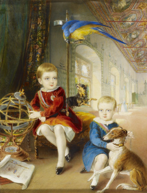 Pedro V of Portugal - Pedro and his younger brother, Luís I of Portugal; William Barclay, 1843.