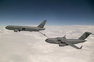 Boeing KC-46 Pegasus - Boeing KC-46A refuels a C-17 Globemaster on 12 July 2016