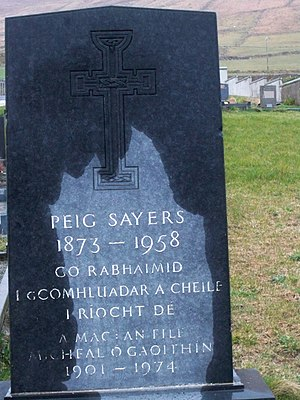 Peig Sayers - Headstone of Peig Sayers