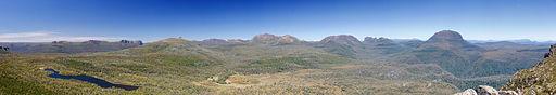 Pelion Range from Mt Oakleigh