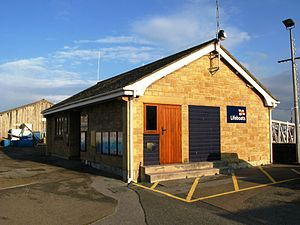 Penlee Lifeboat Station - The 1983-built crew facilities at Newlyn Harbour