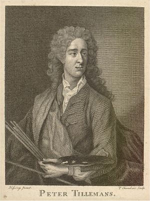 Peter Tillemans - Peter Tillemans, engraving by T. Chambers after Hissings's portrait