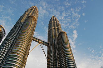 Petronas Towers - The Petronas Towers from their bases.