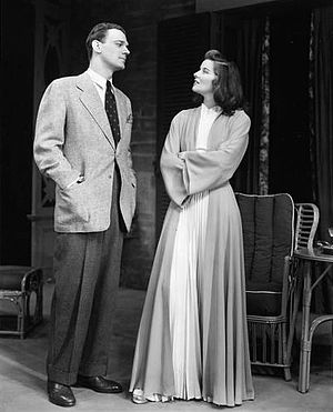 Joseph Cotten - Joseph Cotten and Katharine Hepburn on Broadway in The Philadelphia Story (1939)