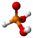 Ball and stick model of phosphorous acid