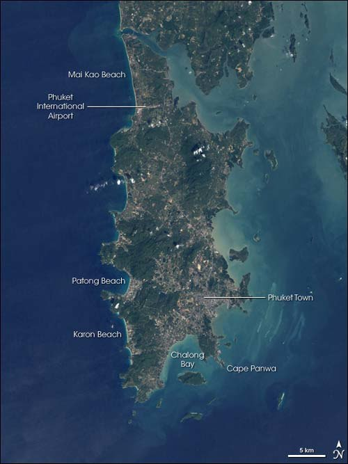 Phuket from space