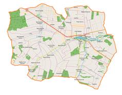 Mapa lokalizacyjna gminy Piaski