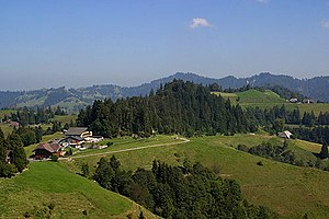 Swiss Plateau - The Napf region in the higher Swiss Plateau