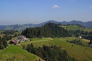 Swiss Plateau - The Napf region in the higher Swiss Plateau