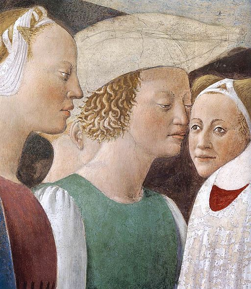 Piero della Francesca - 2a. Procession of the Queen of Sheba (detail) - WGA17492