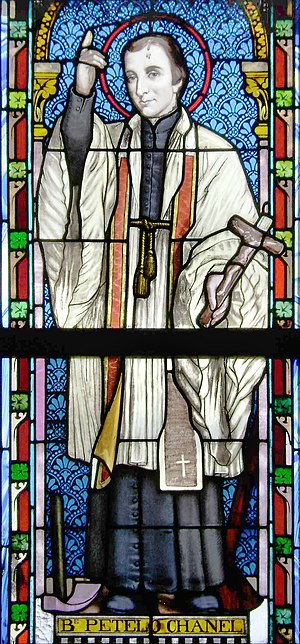 Peter Chanel - Pierre Chanel (Petelō Saineha), window of the Catholic Church of Lapaha, Tonga