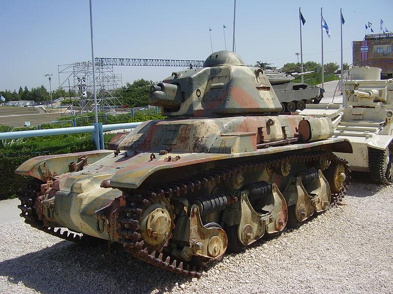טנק רנו R-35 במוזיאון יד לשריון בלטרון