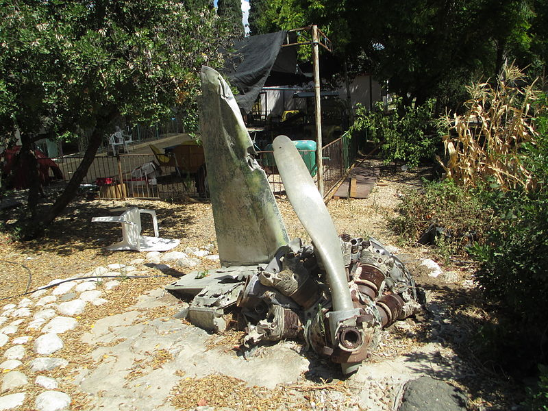 שרידי מטוס סורי בקיבוץ איילת השחר