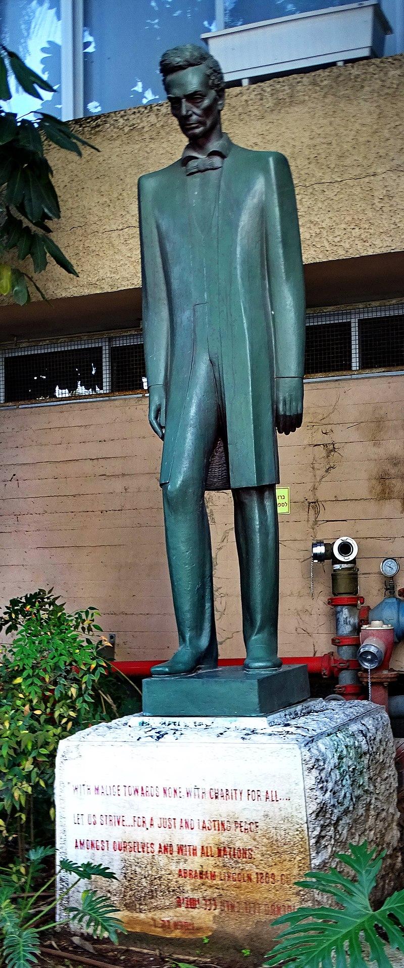 פסל אברהם לינקולן ברמת גן