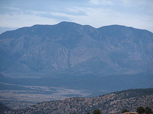 Silver Reef, Utah - The Pine Valley Mountains as seen from the Red Mountain Wilderness Study Area