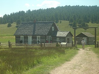 Florissant Fossil Beds National Monument - The Pioneer House, showing how the original pioneers of the west lived