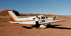 Piper PA-28-181 Archer III at Needles Outpost.jpg