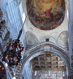 Dome of the cathedral of Pisa with the