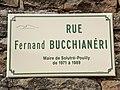 Plaque Rue Fernand Bucchianéri - Solutré-Pouilly (FR71) - 2021-03-02 - 1.jpg